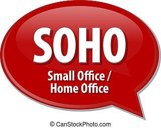 SOHO acronym definition speech bubble illustration - Speech...