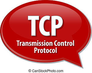 TCP acronym definition speech bubble illustration - Speech...