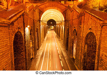 Wilbur Wright Tunnel between Gallo-Roman walls of Le Mans,...