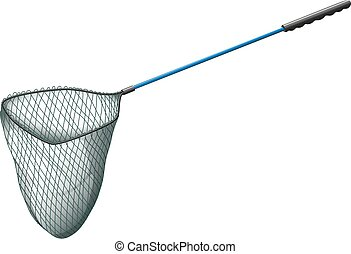 Fishing net with long handle