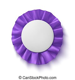 Purple fabric award ribbon.
