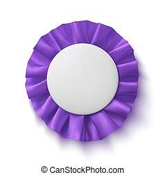 Purple fabric award ribbon.