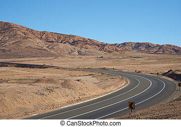 Desert Road - Route 5 through the Atacama Desert in northern...
