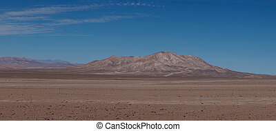 Atacama Desert - Desert scenery along Route 5 through the...