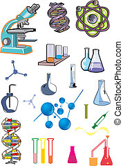 science, collection of laboratory equipments