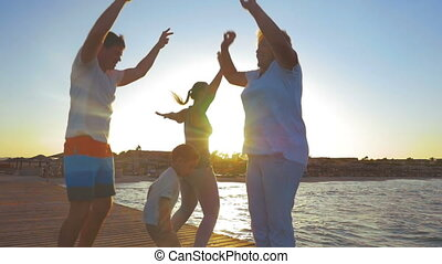 Morning Exercises of a Big Family