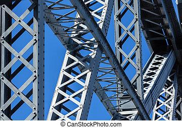 Modern Bridge frame closeup Horizontal image