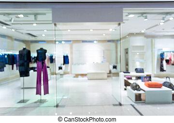Boutique, exhibición, ventana, con, Maniquíes,...
