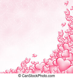 Hearts background - Pink hearts background for a Valentines...