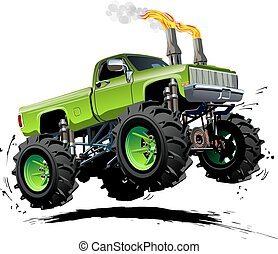 Cartoon Monster Truck Available EPS-10 separated by groups...
