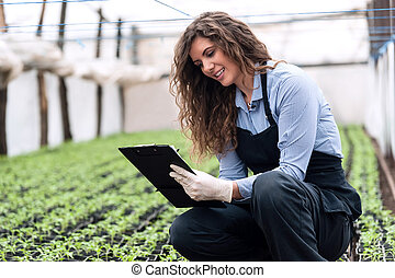 Greenhouse produce. Food production