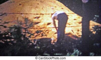 CHATTANOOGA, USA - 1955: Farmer at work