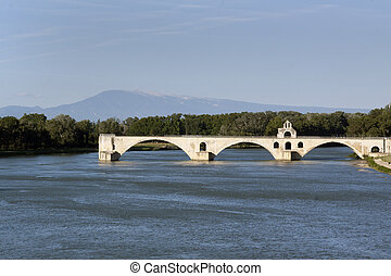 bridge in avignon france mont ventoux - Avignon,france-june...