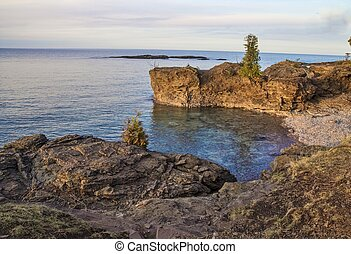 Lake Superior Shore - The rugged wild beauty of Presque Isle...