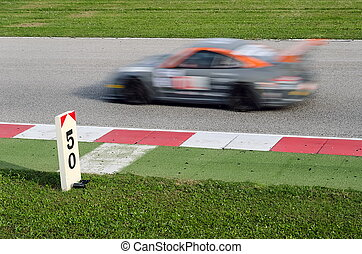 racing car - fast racing car over the track