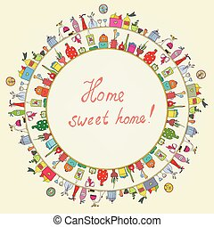 Home sweet - funny graphic card
