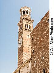 Lamberti Tower in Verona (Italy)