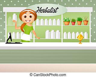 herbalist - illustration of herbalist