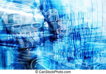 industrial, tecnología, Extracto, fondo., industria,