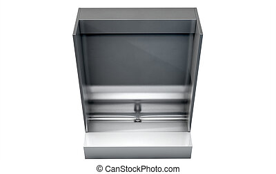 Trough Urinal - A single stainless steel trough style urinal...