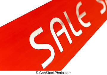 sale word in red and white background