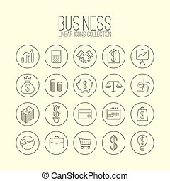 Business Linear Icons Collection