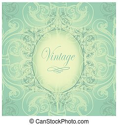 Vintage border with sample text on a seamless background -...