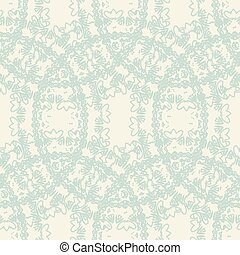 seamless patterns of circles in retro style - Seamless...