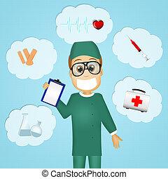 surgeon - illustration of surgeon
