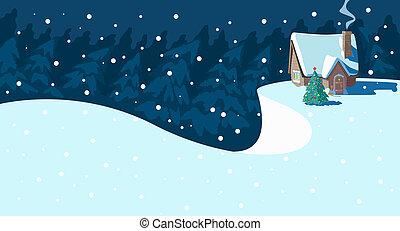 Christmas Scene.