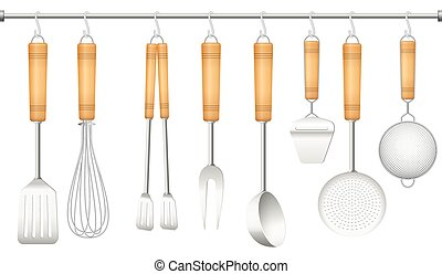 Kitchen Tool Hanger Cutlery - Kitchen tools on a hanger -...