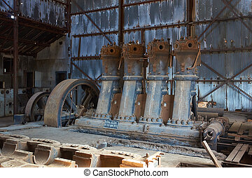 Humberstone Saltpeter Works - Derelict and rusting machinery...