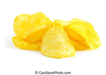 potatoe chips - Potatoe chips isolated on a white background...