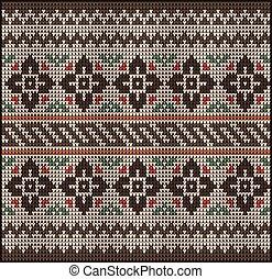knitting pattern sweater flowers 22577 - Fair Pattern...
