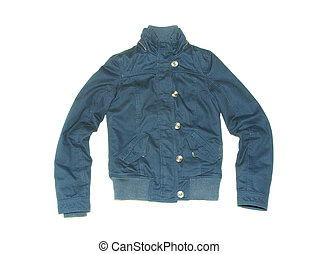 jacket  - blue sport jacket isolated on a white