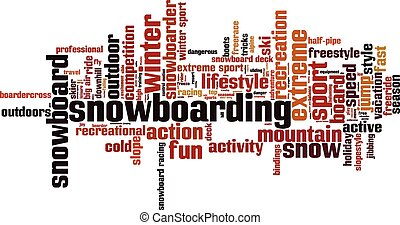 Snowboarding [Converted].eps - Snowboarding word cloud...