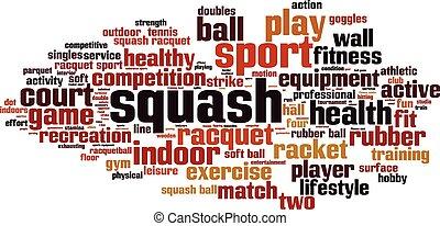 Squash-horizon [Converted].eps - Squash word cloud concept....