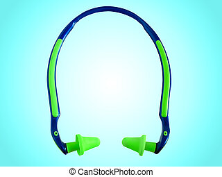 Ear plugs - Hearing protection ear plugs against blue...