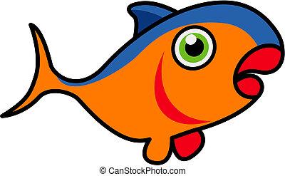 Tuna fish - Tuna caricature