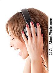 Girl singing song