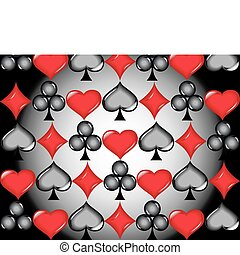 Poker cards icons - casino, poker, gambling, cards, trebol,...