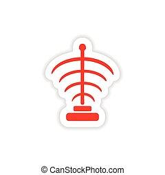 icon sticker realistic design on paper mystical symbols