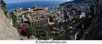 Fontvieille District in Monaco - Panoramic Picture -...