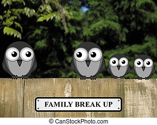 Family Break Up - Representation of family break up or...
