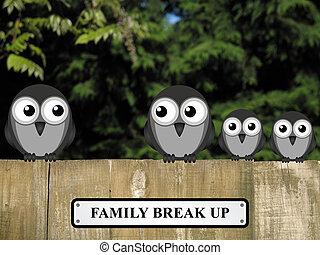Family Break Up - Representation of family break up or...