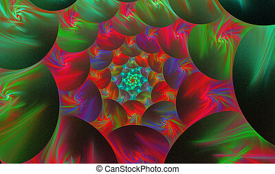 background with a spiral fractal bright flower -...