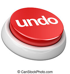 button undo - 3d image of button Undo White background