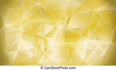 abstratos, Ouro, teia, fundo,