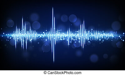 blue audio waveform background - blue audio waveform....