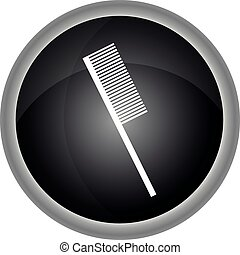 Hairdressing objects icon. Vector